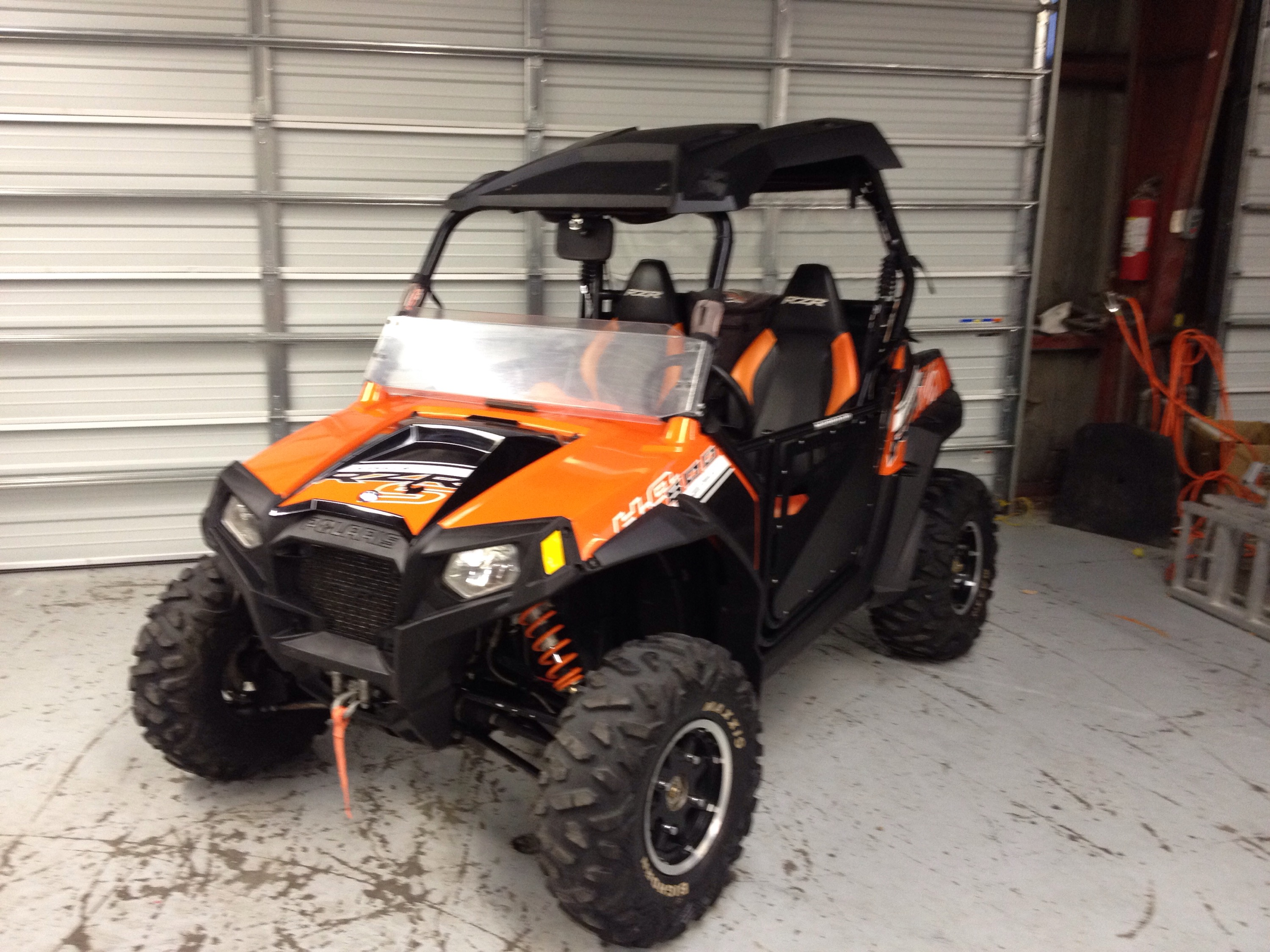 2012 polaris rzr 800 s le orange madness top 1 2 shield. Black Bedroom Furniture Sets. Home Design Ideas